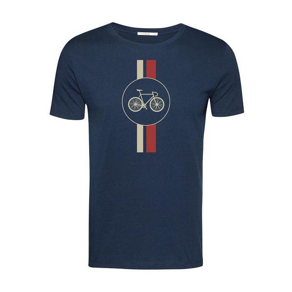 Green Bomb | T-shirt Bike Highway, bio katoen navy blauw