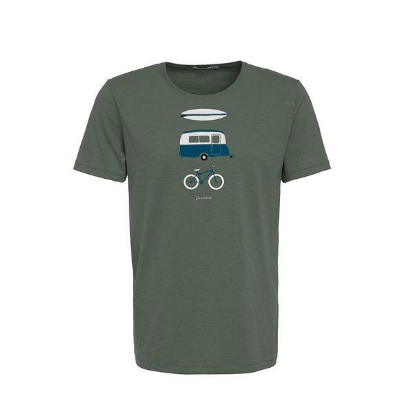 Green Bomb | T-shirt Nature Fun, bio katoen olive