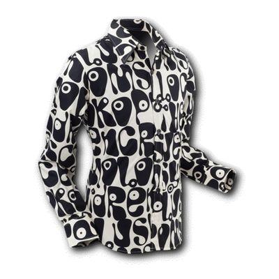 Chenaski   overhemd Seventies Moloko black white