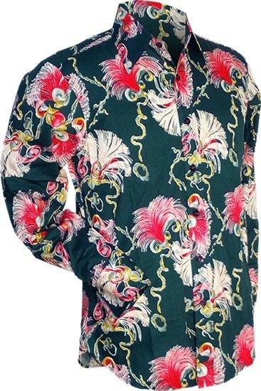 Chenaski | overhemd seventies, Deco cord groen