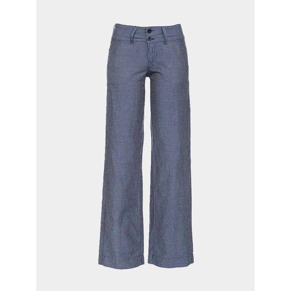ATO Berlin-Pantalon Lilia blauw met witte krijtstreep
