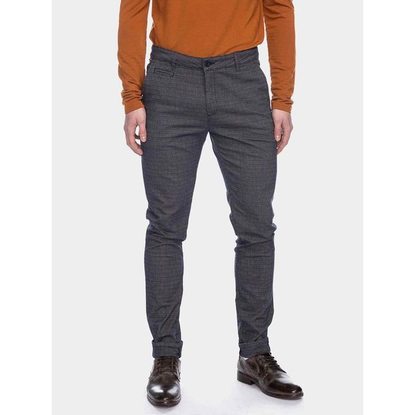 ATO Berlin   pantalon Dino zwart grijs