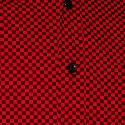 Foto van Chenaski | Overhemd Retro 2-Tone zwart rood