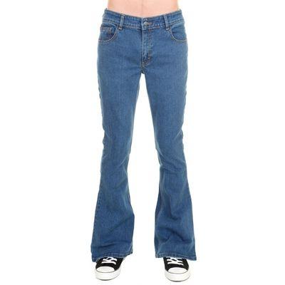 Foto van Jeans 70s vintage, stonewash blauw stretch denim