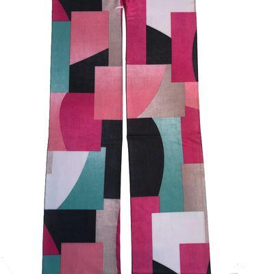 Foto van Panty grafische pastel blokken