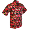 Afbeelding van Chenaski | Overhemd korte mouw, Roses zwart rood