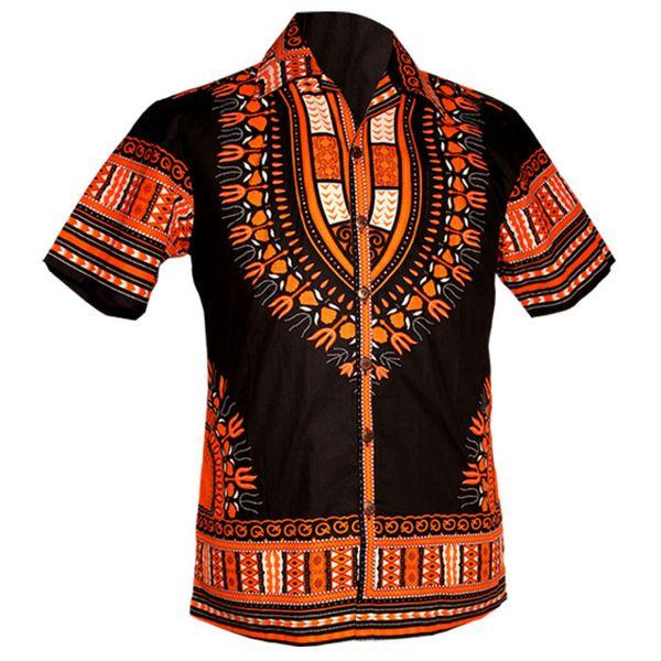 Chenaski   Overhemd korte mouw, Dashiki black