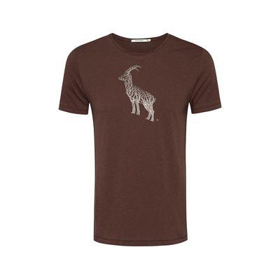 Foto van Green Bomb | T-shirt animal ram bio katoen, dark chocolate