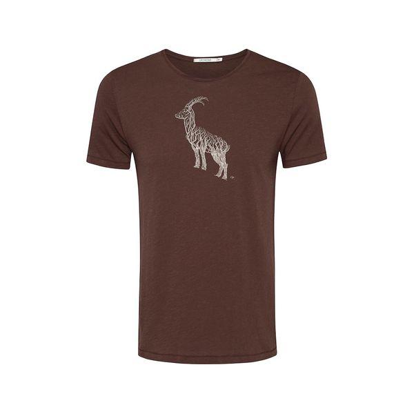 Green Bomb   T-shirt animal ram bio katoen, dark chocolate