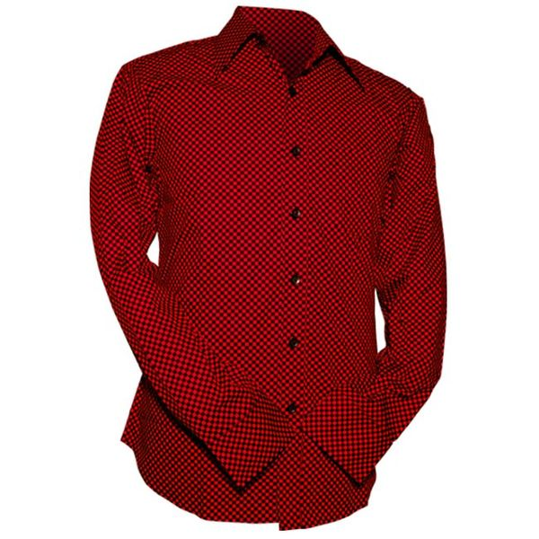 Chenaski | Overhemd Retro 2-Tone zwart rood
