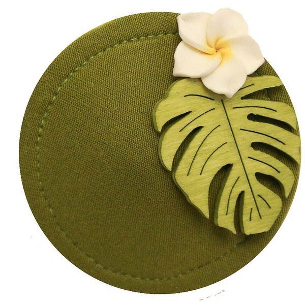 Miranda's Choice - Haarclip minihoed Aloha met bloem lichtgroen