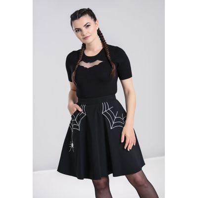Foto van Hell Bunny | Zwarte rok Miss Muffet met witte spinnenwebben