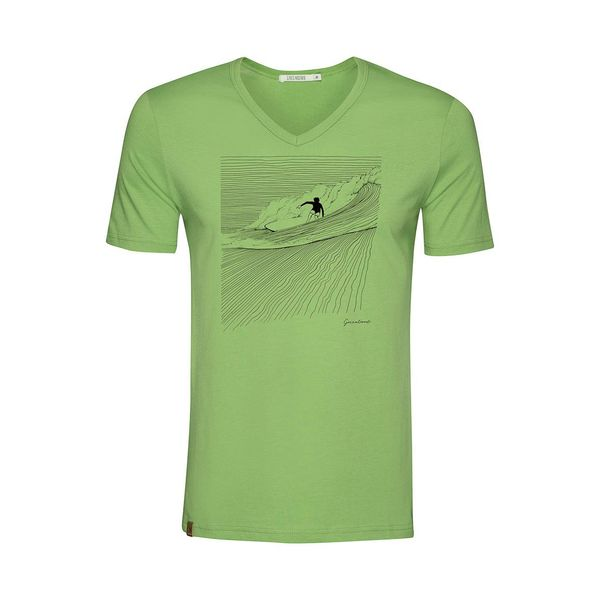 Green Bomb | T-shirt Nature Surfer, pale green bio katoen