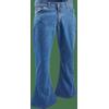 Afbeelding van Denim retro broek classic blue, wijde pijp normale lengte