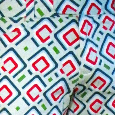 Foto van Chenaski   pantalon met squares mint petrol