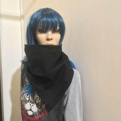 Foto van Major wear-Bandana haarband en sjaal effen zwart