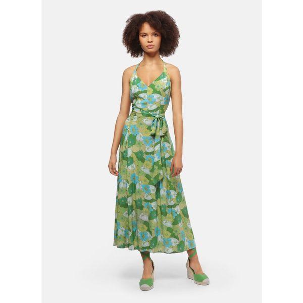 Collectif | Jurk Jayleen Floral Palm groen
