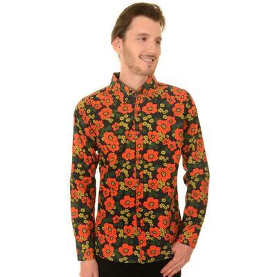 Foto van Overhemd retro, floral poppy button down