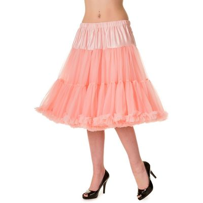 Petticoat Starlite over de knie met extra volume, roze