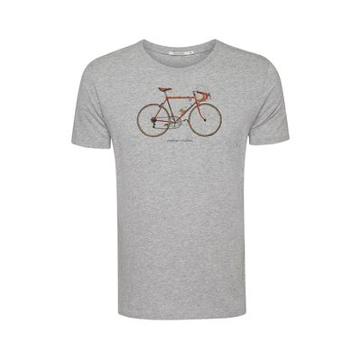 Foto van Green Bomb | T-shirt Bike 51, heather grijs bio katoen