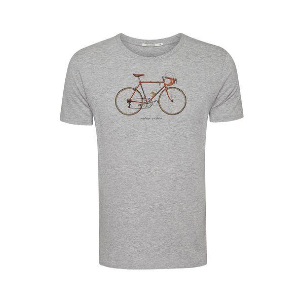 Green Bomb | T-shirt Bike 51, heather grijs bio katoen