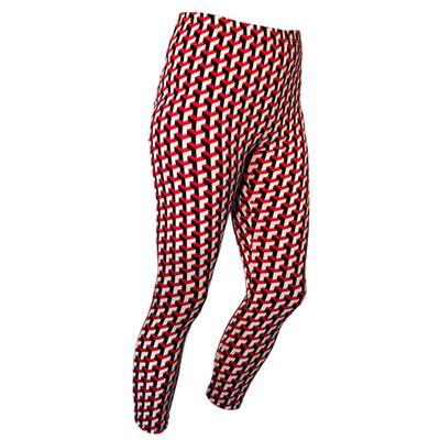 Chenaski | Legging 3d patroon Stairs zwart creme rood