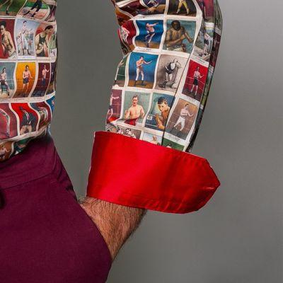Foto van Overhemd lange mouw, boxing cards