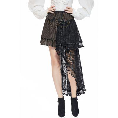 Foto van Pentagramme | Steampunk rok met lange kantdetails en radartjes