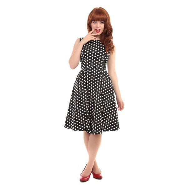 Collectif, jurk Hepburn polka dot doll