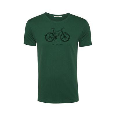 Foto van Green Bomb | T-shirt Bike root, bottle green bio katoen