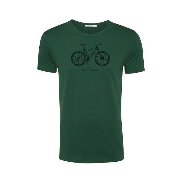 Green Bomb | T-shirt Bike root, bottle green bio katoen