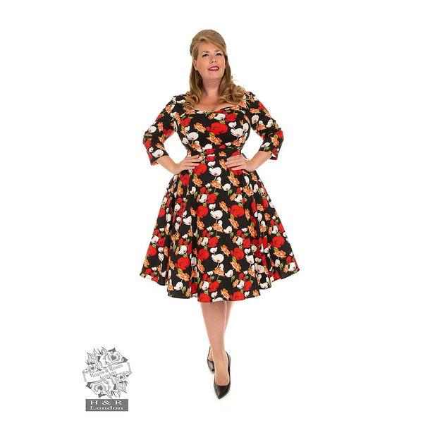 Hearts & Roses | Swingjurk Delia met driekwart mouw queensize