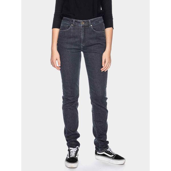 ATO Berlin   Hoge taille jeans Khloe, zwart used