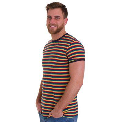 Foto van T-Shirt Retro met regenboogprint