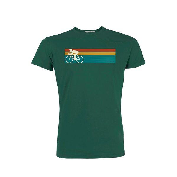 Green Bomb | T-shirt Bike speed, bio katoen, bottle green