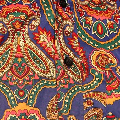Foto van Chenaski | Overhemd Seventies Big Paisley, blue