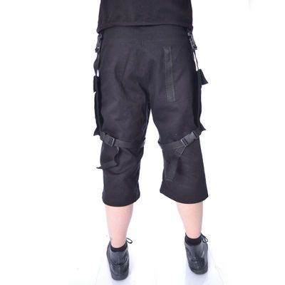 Foto van Chemical Black | Korte broek Danger met gespen zwart