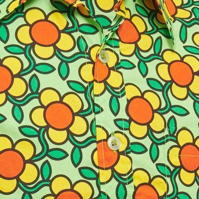 Foto van Chenaski   overhemd Seventies Flowergrid, green