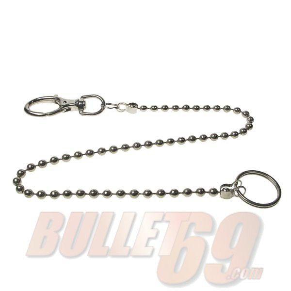 Bullet69 - Sleutelhanger met metalen bolletjes ketting