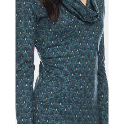 Foto van ATO Berlin | Halbmond blauw groen retro jurk met losse col