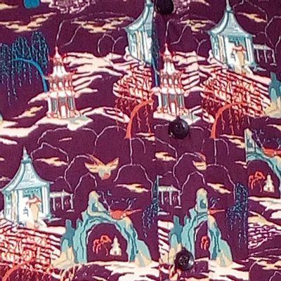 Foto van Chenaski   overhemd seventies, Cave Temple aubergine