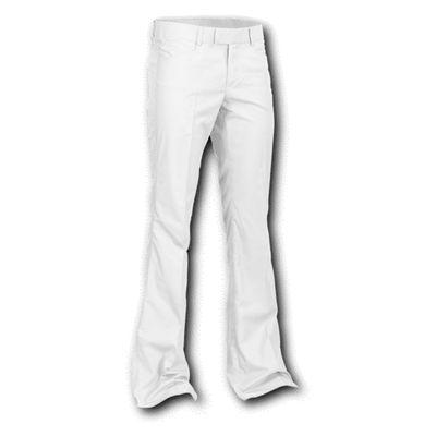 Chenaski | Pantalon wit met uitlopende pijpen