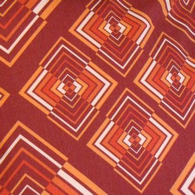Foto van Handtas retro print Rhombus Rust