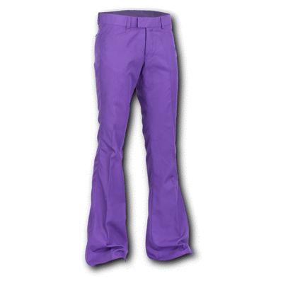 Chenaski Pantalon paars met uitlopende pijpen