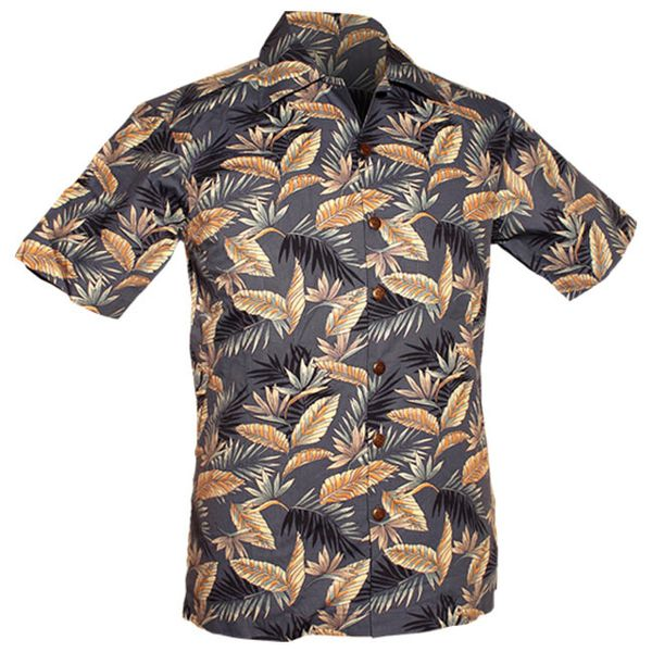 Chenaski | Overhemd korte mouw, Fern blauw creme
