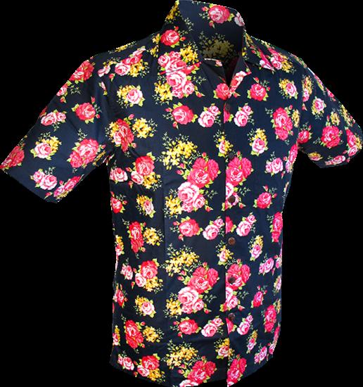 Chenaski   Overhemd korte mouw, Rozen navy blauw
