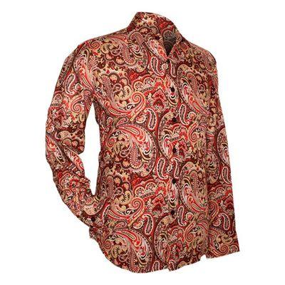 Chenaski | overhemd seventies, Paisley brown