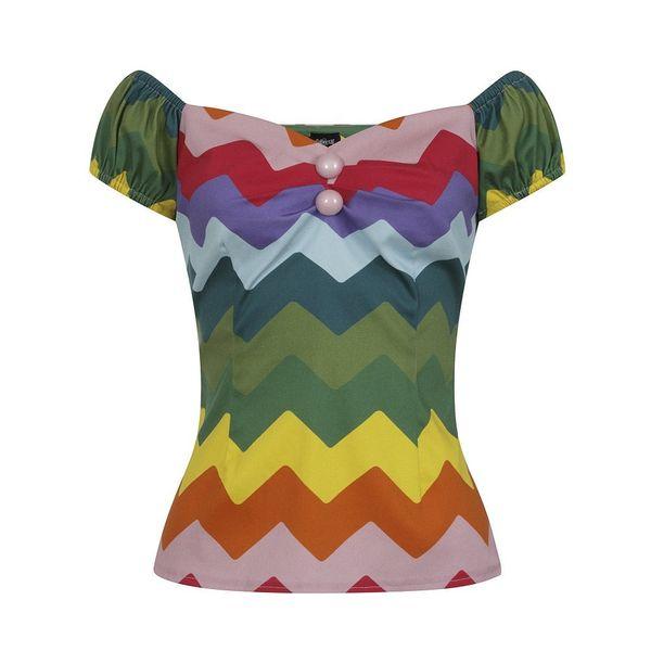 Collectif | Top Dolores Rainbow Chevron