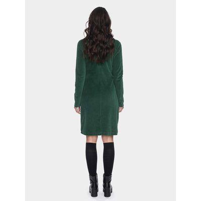 Foto van ATO Berlin | Halbmond donker groen retro jurk met losse col