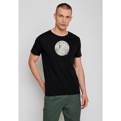 Foto van Green Bomb | T-shirt Whale animal, zwart bio katoen